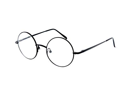 Big Mo's Toys Wizard Glasses - Round Wire Costume Glasses Accessories for Dress Up - 1 Pair]()