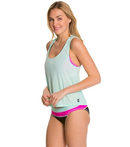 (TYR Women's Santorini Off The Wall Tank Mint Cover Up LG)