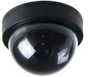 Fausse cam/éra de s/écurit/é avec Lampe LED Clignotante Dummy Cam/éra Fake Cam/éra de Surveillance avec LED Rouge pour Les Entreprises Magasins Accueil