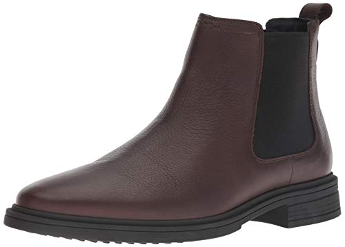Cole Haan Men's Bernard Chelsea Boot, Chestnut/Black, 10.5 M US -