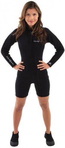- NeoSport Wetsuits Women's Premium Neoprene 7mm Step-In Jacket,Black,8