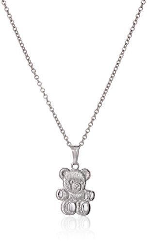 Sterling Silver Children's Teddy Bear Pendant, 13""