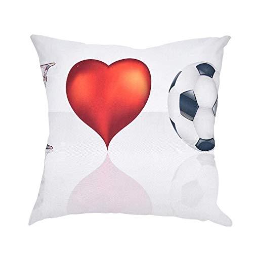 Big Promotion! Noopvan The World Cup Soccor Printed Throw Pillowcase Creative Decor Cushion Cover 17.7
