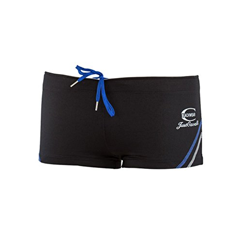 Just Cavalli Men Black Square Cut Swim Short Stretch Beach Boxer Briefs Swimsuit XXS US EU - Cavalli Stretch Boxers Just