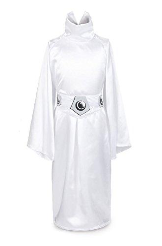 ReliBeauty Girls Princess Leia Dress up Costume, 4T-4, White