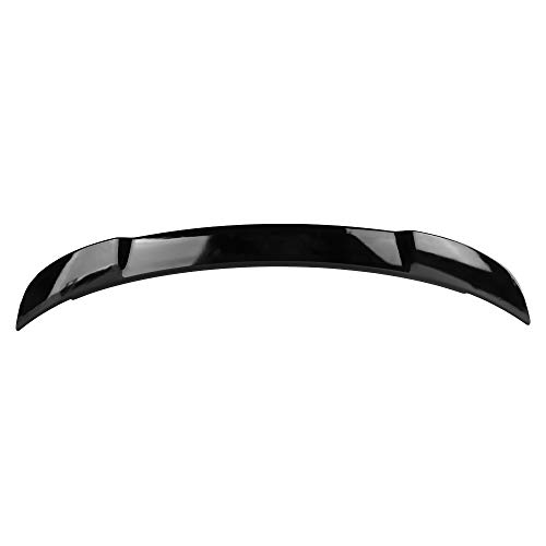 Srt8 Trunk - Pre-painted Rear Trunk Spoiler for 2011-2017 Dodge Charger SRT8 Style Trunk Boot Lip Spoiler Wing Add On Deck Lid Bright black