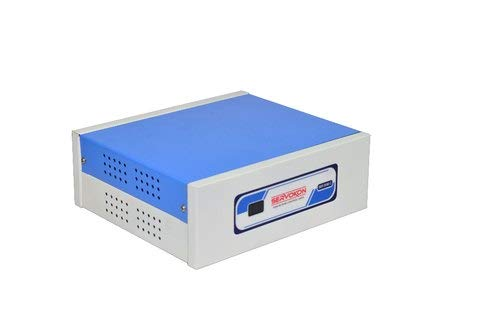 Servokon SKR 513C Digital Voltage Stabilizer for Refrigerator Upto 300 LTR (130~280V AC) (Copper) 2021 July Digital Voltage Stabiliser for Refrigerator upto 300 LITRE Working Range 130~280v AC Capacity 0.5 KVA; 100 % Copper Windings