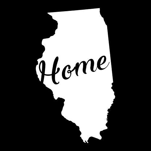 - Illinois Home State Vinyl Decal Sticker | Cars Trucks Vans Walls Windows Laptops Cups | White | 5.5 X 3.2 | KCD1935