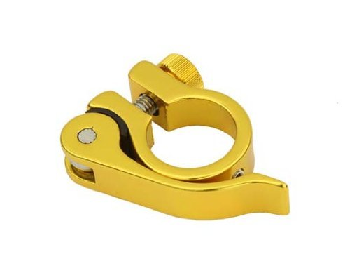 Alloy Seat Post Clamp 25.4 QR Yellow. by Lowrider