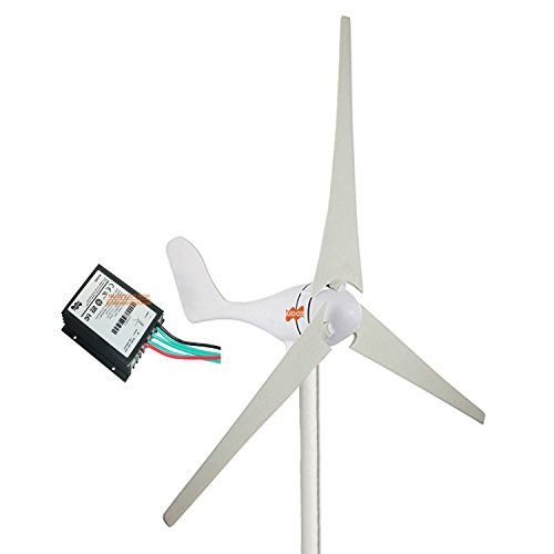 MarsRock Small Wind Turbine Generator + Wind Controller, AC 12Volt or 24Volt,400W Economy Windmill for Wind Solar Hybrid System 2m/s Start Wind Speed 3 blades (400Watt 24Volt) by MarsRock
