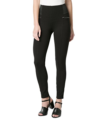 RIBOOM Women's Ponte Skinny Legging Work Pants with Wide Elastic Waistband
