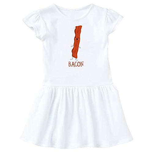 (inktastic - Bacon Costume Infant Dress 24 Months White)
