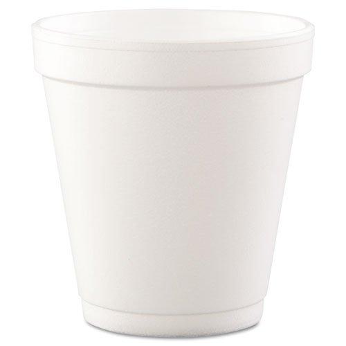 Dart Conex Hot/Cold Foam Drinking Cups, 10oz, Squat, White, 40/Bag, 25 Bags/Carton