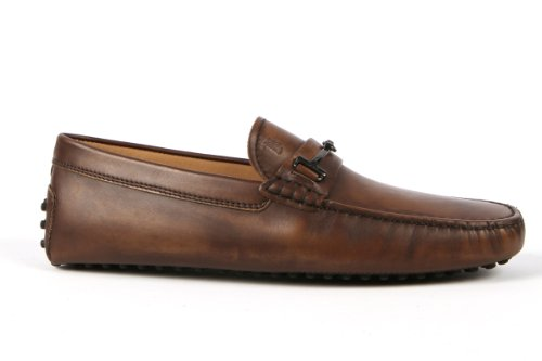 Tod's Mens Shoes L.brown Gommino Horsebit Moccasins USA Size 6 (Printed Size 5) T196