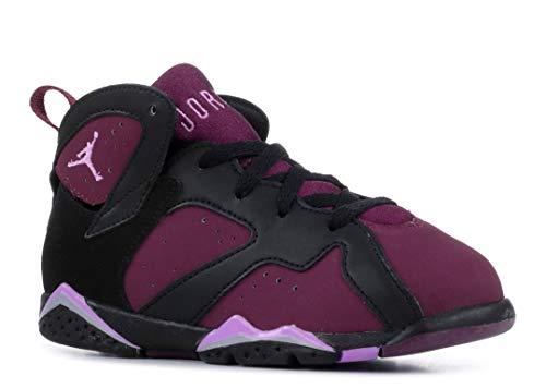 Nike Jordan Toddlers Jordan 7 Retro Gt Black/Fchs Glow/Mulbrry/Wlf Gry Basketball Shoe 7 Infants US