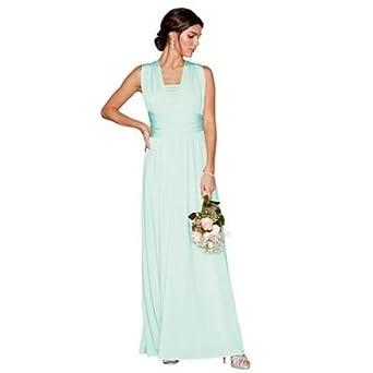 Debut Womens Light Green Multiway Maxi Dress Xs