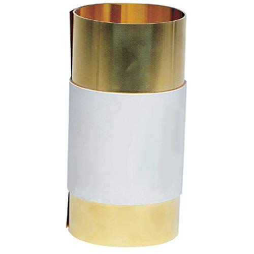 H02 Temper 6 Width Unpolished 100 Length ASTM B19//ASTM B36 0.010 Thickness Small Parts 17415 260 Brass Sheet Mill Finish