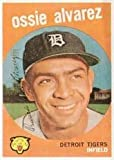 1959 Topps Regular (Baseball) Card# 504 Ossie Alvarez of the Detroit Tigers VGX Condition