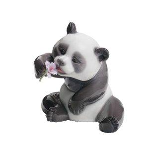 Lladro A Cheerful Panda Porcelain (Lladro First Flowers)
