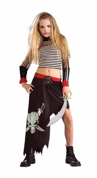 Child's Preteen Pirate Girl Costume (Size: Small)