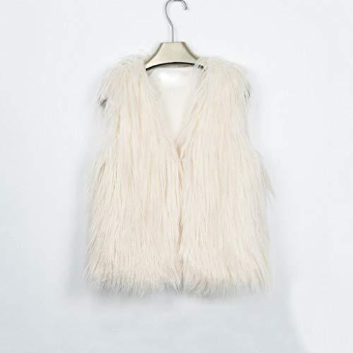 Faux Shrug Bébé Long Trench Fourrure Trydoit Chaud Hiver Femme Outwear Veste Fille Beige Manteau Coat Manches Sans Gilet 5S8wUxR