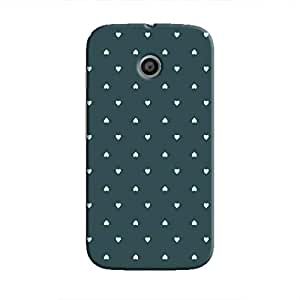 Cover It Up - Tiny Green Hearts Moto EHard Case