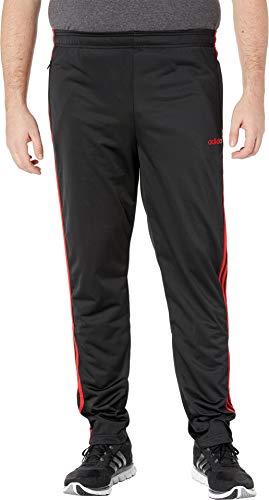 adidas Men's Big & Tall Essentials 3-Stripe Tricot Pant Tapered Black/Scarlet Medium 31 Tall