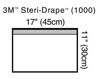 3M Steri-Drape, Small Towel Drape, 17'' x 11'', 10/Bx, 3M1000