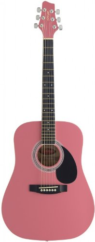Stagg SW201 3/4 PK Dreadnought 3/4 Size Acoustic Guitar - Pink