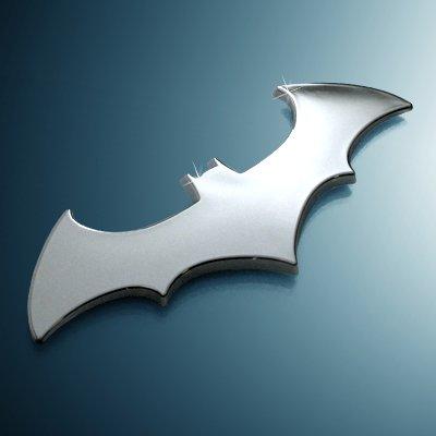 batman 3d bat chrome auto emblem import it all