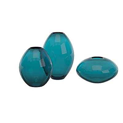 Torre & Tagus 901431 Mini Lustre Vases Assorted, Turquoise, Set of Three