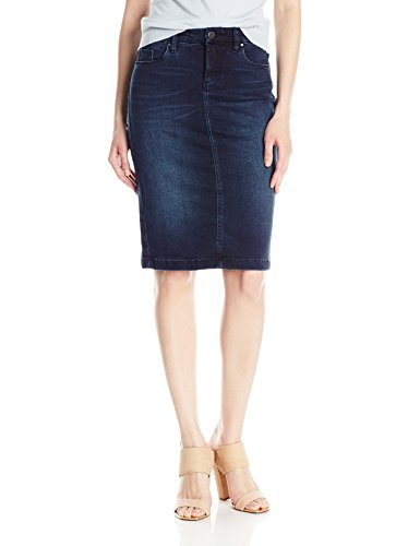 - [BLANKNYC] Women's Denim Pencil Skirt, Swing Away, 27