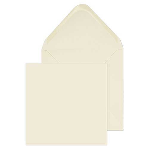Blake Purely Everyday, Square Envelopes for Invitations & Greeting Cards, 6 1/8 x 6 1/8 Inches, Cream, Gummed (ENV4275-76) - Pack of 500