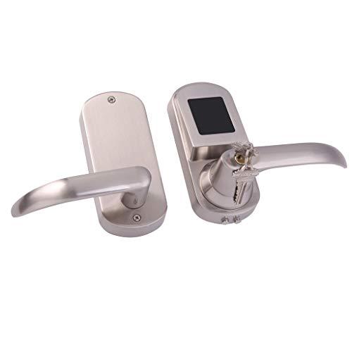 Flameer Cerradura de Tarjeta Elegante Electrónica Cerradura de NFC de Puerta para Puerta de Madera Metal 40mm a 60mm