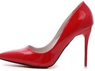 GGX/ Chaussures Femme-Habillé / Soirée & Evénement-Noir / Rose / Rouge / Gris-Talon Aiguille-Talons-Talons-Similicuir black-us5 / eu35 / uk3 / cn34 MNJMK