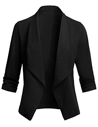 Appuntamento Ufficio Manica E Di Blazer Classico 2 Elegante Tailleur Donna Abito Party A Cocktail Abollria Per Primaverile 4 Nero Giacche 3 Lunghezza Da TqSwRwnx