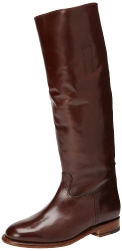 Dark Women's Frye Boot Abigail Riding Polished 76172 Brown qXqwBfOx