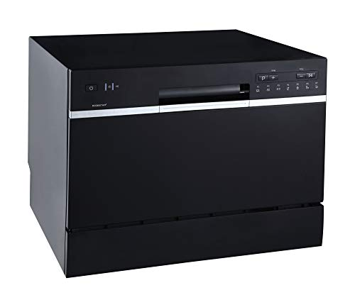 (EdgeStar DWP62BL 6 Place Setting Energy Star Rated Portable Countertop Dishwasher - Black)