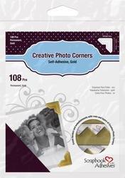 Bulk Buy: 3L/HELMAR Classic Style Paper Photo Corners .5'' (12mm) 126/Pkg Gold 3L-PC-1625 (4-Pack) by HELMAR