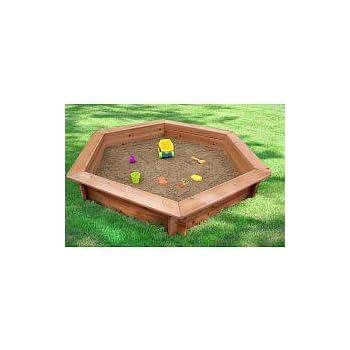 "Oakley 51"" Hexagonal Sand Box with Rain Cover & Lining"