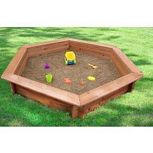 Oakley 51'' Hexagonal Sand Box with Rain Cover & Lining