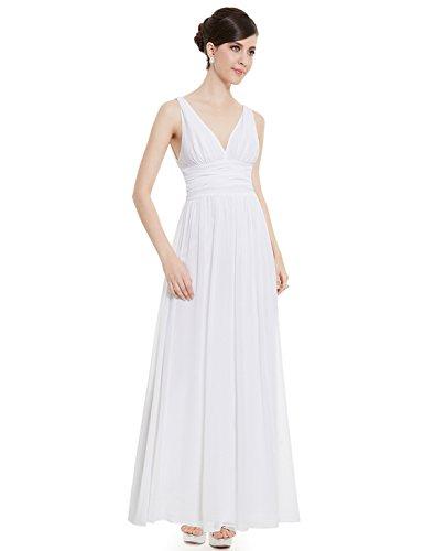 Ever-Pretty HE09016 - Vestido para mujer Blanco