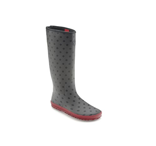 Vivobarefoot Women Waterloo Knee High Rain Boot Shoe, Black Dot, 43 EU / US 11.5