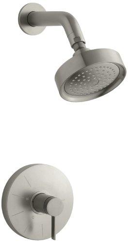 KOHLER K-T949-4-BN Stillness Rite-Temp Pressure-Balancing Shower Faucet Trim, Vibrant Brushed (Nickel Stillness Wall Mount)