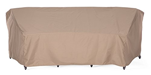 SunPatio Outdoor Crescent Curved Sectional Sofa Cover, 120″L/82″L x 36″W x 38& ...