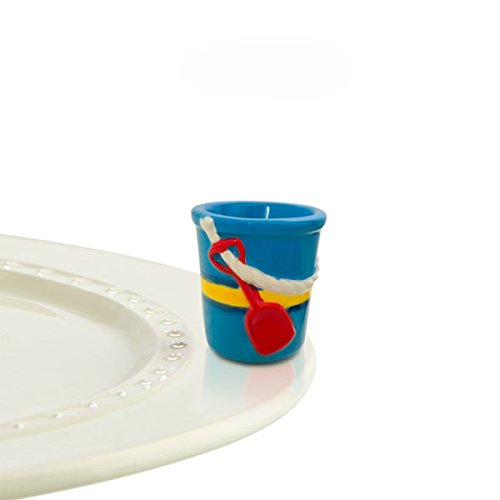 - Nora Fleming Hand-Painted Mini: Castle in the Sand (Blue Pail) A202