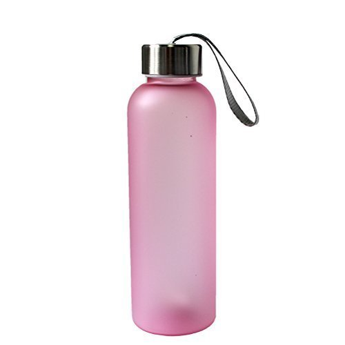 600ML Portable Camping Cycling Frosted Bottle Water Bottle(Pink)