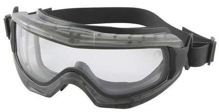 Bouton 251-65-0020-RHB Indirect Vent Goggle with Gray Body, Clear Double Lens and Anti-Scratch / Anti-Fog Coating - Neoprene Strap by Bouton