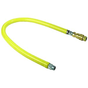 T&S Brass HG-4D-12 Gas Hose with Quick Disconnect, 3/4-Inch Npt and 12-Inch Long