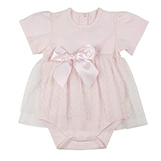 Stephan Baby Snap Dress-Style Diaper Cover, Tulle-Skirted, Blush Pink, Fits 6-12 Months